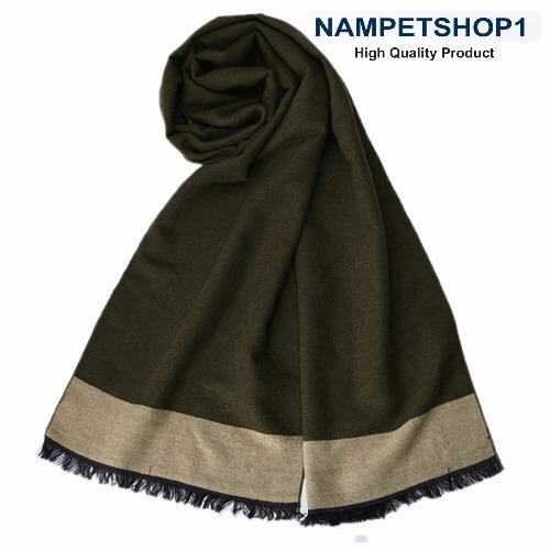 ผ้าพันคอผู้ชาย Autumn and winter British business men scarf (West Grand – Dark Green)