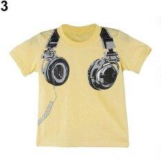 ทบทวน Phoenix B2C Boys Summer ชุดหูฟังสุดเท่ห์ O Neck เสื้อยืดแขนสั้น Tee 4 5 ปี สีเหลือง