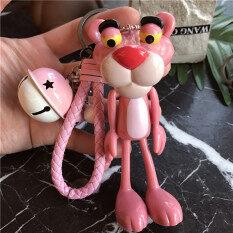 พวงกุญแจพิ้งค์แพนเตอร์ ไอเดียเก๋สไตล์เกาหลี Pink Panther สีชมพู ระฆัง Pink Panther สีชมพู ระฆัง ถูก