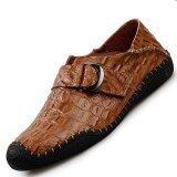 ส่วนลด Pinsv Genuine Leather Men Handmade Shoes Casual Leather Shoesn Brown Intl Pinsv ใน จีน