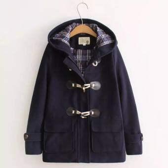 PK เสื้อโค้ตทรงญี่ปุ่น ผ้าวูล เนื้อดี มีฮู้ด มีซิป ด้านในบุด้วยผ้าร่มกันลมผ่านอีกชั้น อุ่นสบาย ทรงยอดฮิต