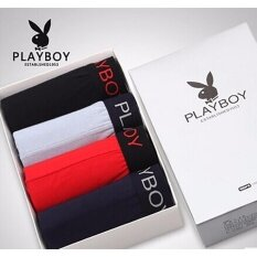 ราคา Playboy กางเกงในชายเพลย์บอยพร้องกล่อง สุดเท่ 1กล่อง เป็นต้นฉบับ