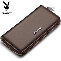 ซื้อ Playboyกระเป๋าสตางค์ผู้ชายใบยาวซิปรอบ วรรคหกสีน้ำตาล วรรคหกสีน้ำตาล ออนไลน์ Thailand