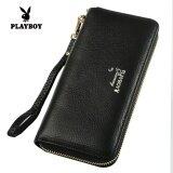 ขาย Playboy กระเป๋าสตางค์หญิง หนัง ทรงยาว สไตล์เกาหลี สีดำ สีดำ Playboy เป็นต้นฉบับ