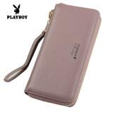 ซื้อ Playboy กระเป๋าสตางค์หญิง หนัง ทรงยาว สไตล์เกาหลี สีม่วงอ่อน สีม่วงอ่อน ใหม่ล่าสุด