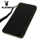 โปรโมชั่น กระเป๋าถือแบบซิปรอบของผู้หญิง ยี่ห้อPlayboy สีดำ สีดำ Playboy ใหม่ล่าสุด