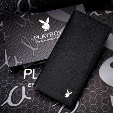 ทบทวน Playboy กระเป๋าสตางค์หนังแท้คุณภาพดี สีดำ