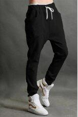 ทบทวน ที่สุด คนจรกางเกงวอร์ม Podom เต้นฮิปฮอปกางเกงวอร์มสีดำ