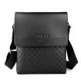 ราคา Polo Leather Men Shoulder Bag Briefcase Messenger Bag Business Crossbody Black Intl Polo ใหม่