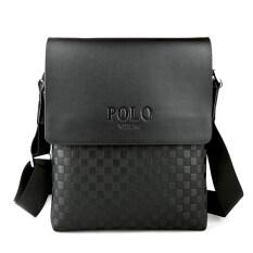 ส่วนลด Polo Leather Men Shoulder Bag Briefcase Messenger Bag Business Crossbody Black Intl Polo จีน