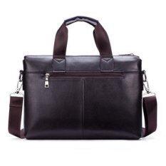 ซื้อ Polo Men Leather Handbag Business Portable Bag Crossbody Tote Black Intl ถูก ใน จีน