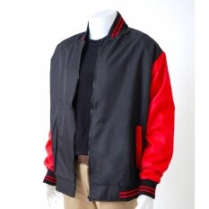 ราคา Polomaker เสื้อแจ็คเก็ต ทรงเบสบอล Jk1202 สีแดงดำ Male ใหม่ล่าสุด