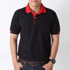 โปรโมชั่น Polomaker เสื้อโปโล Kanekotk Pk048 สีดำ Male ถูก