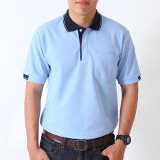 ซื้อ Polomaker เสื้อโปโล Kanekotk Pk023 สีฟ้าปกกรมท่า Male ถูก ใน Thailand