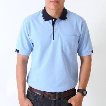 POLOMAKER เสื้อโปโล KanekoTK PK023 สีฟ้าปกกรมท่า (Male)