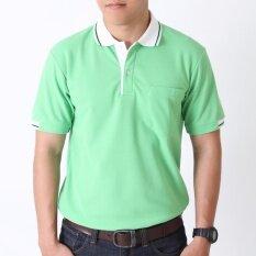 ราคา Polomaker เสื้อโปโล Kanekotk Pk082 สีเขียวอ่อน Male ใหม่