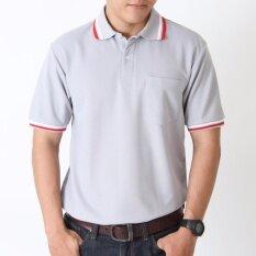โปรโมชั่น Polomaker เสื้อโปโล Kanekotk Pk092 สีเทา Male ใน กรุงเทพมหานคร