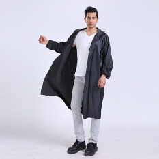 ราคา ปอนโชกลางแจ้งเสื้อกันฝนเสื้อเสื้อกันหนาวชาย ส่วนซิปที่มีแถบสะท้อนแสง เป็นต้นฉบับ