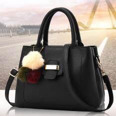 ราคา Porra Bag กระเป๋าถือ กระเป๋าแฟชั่น กระเป๋าสะพายไหล่ รุ่น Pb 089 สีดำ ใหม่