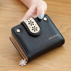 ซื้อ Porra Bag กระเป๋าเงินผู้หญิง กระเป๋าสตางค์ใบสั้น กระเป๋าสตางค์ตามวันเกิด รุ่น Pw 047 สีดำ ใหม่ล่าสุด