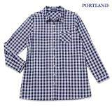 ซื้อ Portland เสื้อเชิ้ตตัวยาว คอตตอน แขนยาว สีกรมท่า Portland