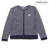 ราคา Portland เสื้อแจ๊คเก็ต คอตตอน ลายริ้ว แขนยาว สีกรมท่า เป็นต้นฉบับ
