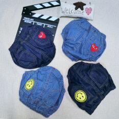 ราคา ในช่วงฤดูร้อน Pp ขนาดใหญ่ผ้ายีนส์กางเกงขาสั้น แสงสีฟ้ารุ่นลูกพีชหัวใจ Other ออนไลน์