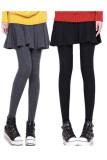 ซื้อ Prembee Set Of 2 กางเกงกระโปรงเลกกิ้งสไตล์เกาหลีทรงสวิง สีดำ เทาเข้ม ไทย