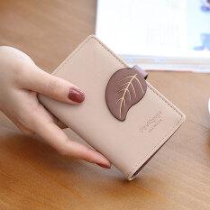 ราคา Prettyzys กระเป๋าเก็บบัตรสตรีสไตล์เกาหลีมีช่องเยอะแบบบางเฉียบ สีชมพู Prettyzys ใหม่