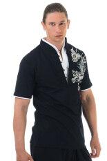 ซื้อ Princess Of Asia เสื้อยืดจีนผู้ชายลายมังกร สีดำ ถูก ไทย