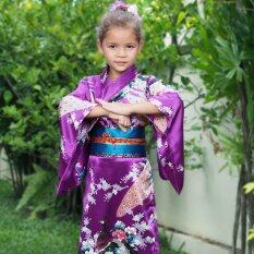โปรโมชั่น Princess Of Asia ชุดกิโมโนญี่ปุ่นเด็ก สีม่วง ใน ไทย