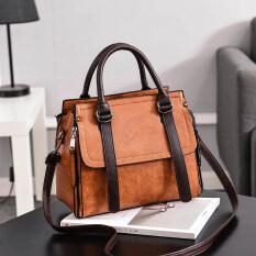 ราคา เกาหลีผู้หญิงกระเป๋าถุงกระเป๋าสะพาย สีกากี Unbranded Generic เป็นต้นฉบับ