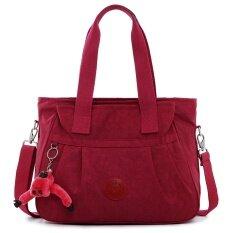 ขาย ความจุขนาดใหญ่อเนกประสงค์ถุงผ้าใบถุงนางสาว สีแดง ถูก ฮ่องกง