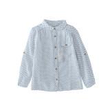 ขาย แนวโน้มเด็กแขนยาวเด็กชายปกเสื้อสาวเสื้อ แสงสีฟ้า ออนไลน์ ฮ่องกง