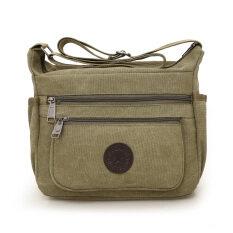 ซื้อ สบายๆกระเป๋ากระเป๋าผู้ชายกระเป๋าถุงผ้าใบความจุขนาดใหญ่ กองทัพสีเขียว Unbranded Generic ออนไลน์