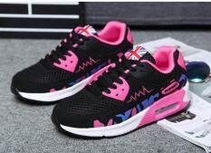 ซื้อ Sai Bi รองเท้าวิ่งหญิง พื้นเรียบ นุ่ม ระบายอากาศ ด้านหน้าตาข่าย สไตล์เกาหลี รุ่นหญิง พลัมสีดำ รุ่นหญิง พลัมสีดำ