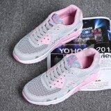 ซื้อ Sai Bi รองเท้าวิ่งหญิง พื้นเรียบ นุ่ม ระบายอากาศ ด้านหน้าตาข่าย สไตล์เกาหลี รุ่นหญิง สีเทาสีชมพู รุ่นหญิง สีเทาสีชมพู ใหม่