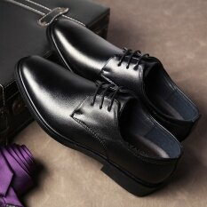 ขาย รองเท้าอังกฤษรองเท้าสีดำระบายอากาศฤดูใบไม้ผลิ แมตต์สีดำ Unbranded Generic เป็นต้นฉบับ