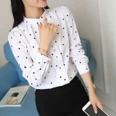 เสื้อเชิ้ตลำลอง ผ้าชีฟองของผู้หญิง สีขาว สีขาว เป็นต้นฉบับ