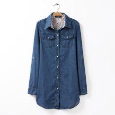 ขาย กางเกงยีนส์ฤดูใบไม้ร่วงใหม่เสื้อ สีน้ำเงินเข้ม Unbranded Generic เป็นต้นฉบับ