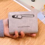 ขาย ซิปบางเฉียบมินิขนาดเล็กกระเป๋าเงินกระเป๋าสตางค์ใหม่ สีเทา ถูก
