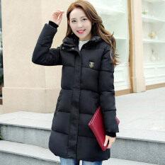 ผ้าฝ้ายแฟชั่นเสื้อผู้หญิงผอมยาวหนา สีดำ ถูก