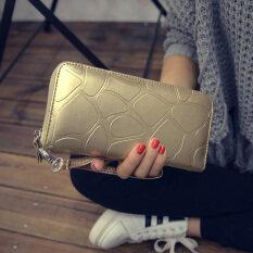 ซื้อ บิ๊กเนมกระเป๋าสตางค์ใหม่ของผู้ชายกระเป๋าสตางค์หินเม็ดซิป สีทอง ออนไลน์ Thailand