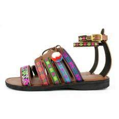 ราคา รองเท้าโบฮีเมียนผูกข้อเท้าสไตล์ชนเผ่างานเย็บทั้งหมดน้ำหนับเบาโทนสีสดไซส์ปกติ ออนไลน์ กรุงเทพมหานคร