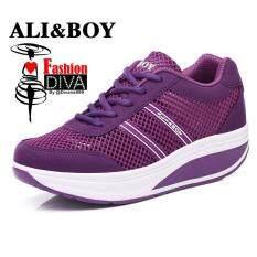รองเท้าออกกำลังกายผู้หญิง เพื่อสุขภาพ ผ้าตาข่ายโปร่งแสง ใส่สบาย ระบายอากาศได้ดี By Bedding 3d.