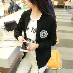 ราคา เสื้อถักไหมพรมผู้หญิงสไตล์เกาหลี สีดำ สีดำ ออนไลน์