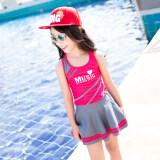 ราคา ทารกเจ้าหญิงหญิงเด็กกระโปรงแยกสาวชุดว่ายน้ำชุดว่ายน้ำ สีแดงเป็นสีดอกกุหลาบ Youyou เป็นต้นฉบับ