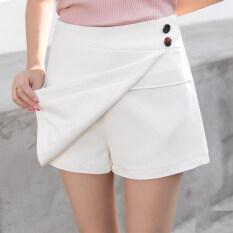 ราคา ราคาถูกที่สุด กางเกงป่าคำกระโปรงสีขาวกระโปรงบาง สีขาว