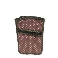 ขาย กระเป๋าใส่เหรียญ ใส่โทรศัพท์มือถือ มีสายคล้องคอ ผ้าแคนวาสสีเปลือกมังคุด Puean เป็นต้นฉบับ