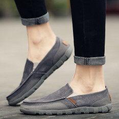 ขาย ผู้ชายขนาดใหญ่รองเท้าผ้ารองเท้าผ้าใบรองเท้า สีเทา ผู้ค้าส่ง
